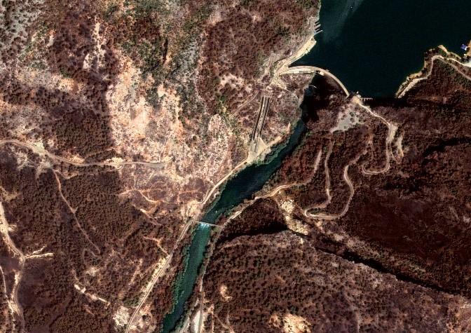 Manavgat Dam, Turkey. GEOSAT-2 Image. Aug. 4, 2021